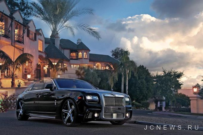 Rolls Royce Ghost Black Bison обули в диски Forgiato